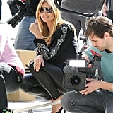 Heidi Klum filmed her reality show Germany's Next Topmodel in Beverly Hills Tuesday.