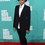 Janelle proved she's a master at the classics in a simple black suit and white button-down at the 2012 MTV Movie Awards.