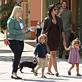 The small black pup followed closely behind Camila Alves-McConaughey.