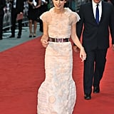 Keira Knightley arrived at the Anna Karenina premiere in London.