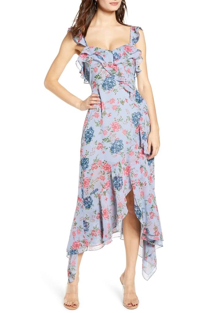 WAYF Issy Ruffle Midi Dress
