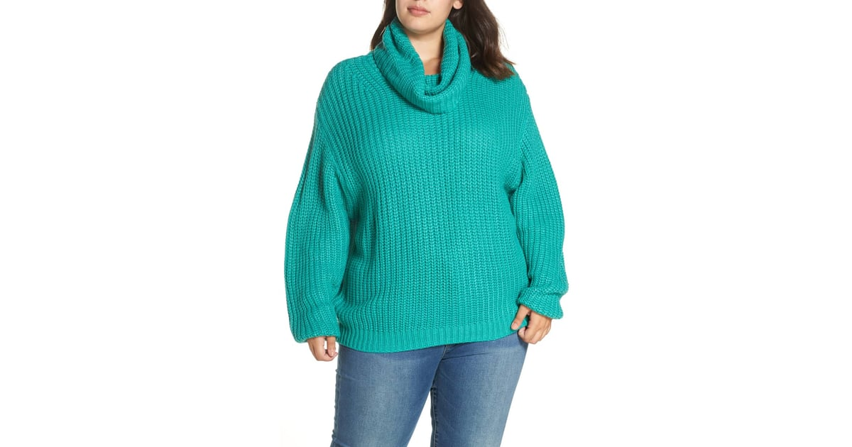 c45190268 Leith Oversize Turtleneck Sweater