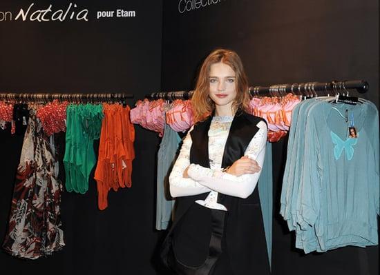 Natalia Vodianova in Paris For Etam