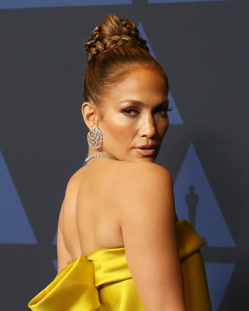 Jennifer Lopez's Braided Updo at the 2019 Governor Awards