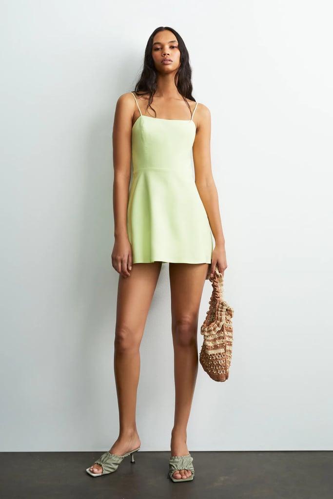 Strappy Linen Blend Jumpsuit Dress