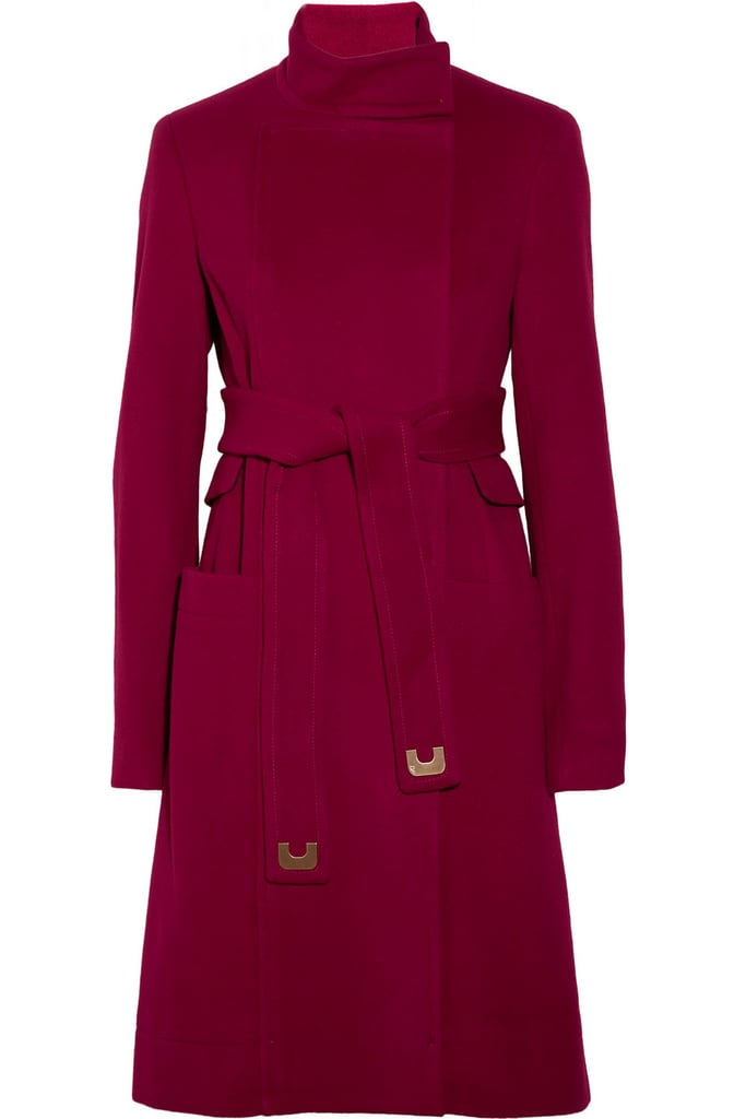 Coats are the ultimate designer investment piece, and this Diane von Furstenberg Sabrina Belted Wool and Cashmere-Blend Coat ($487, originally $695) is guaranteed to last you a lifetime. We adore the pretty raspberry hue.