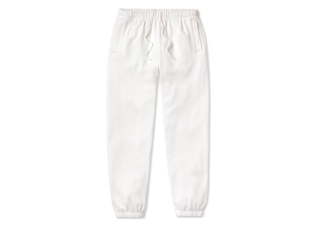 Loop Back Sweatpants in White