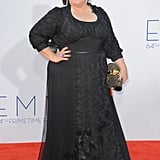 Melissa's 2012 Emmy Awards gown was lovely, but we cannot stop looking at that statement ring!