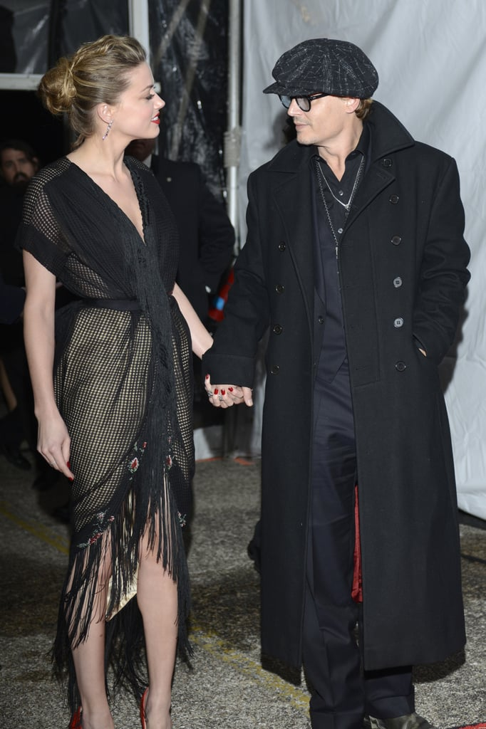 Johnny Depp and Amber Heard hit the red carpet as a couple for the Texas Film Awards in Austin on Thursday.