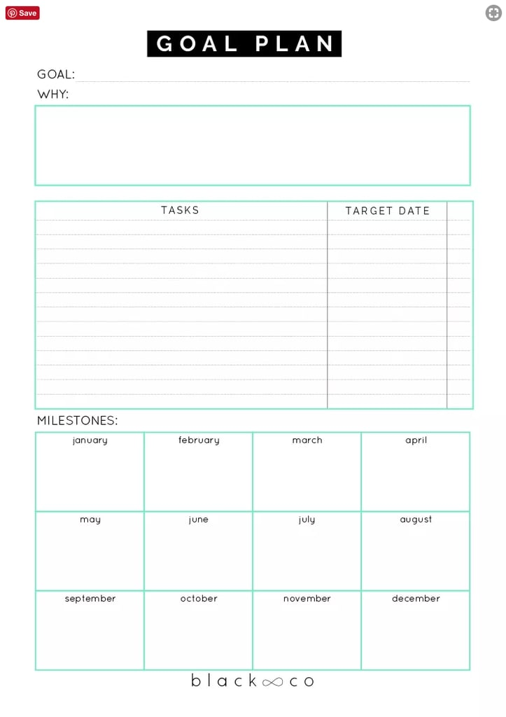 picture about Free Printable Goal Sheets called Obtain: Blackco Intent Software Sheet Cost-free Printable Intent