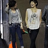Kristen Stewart shared a laugh with a friend in LA.
