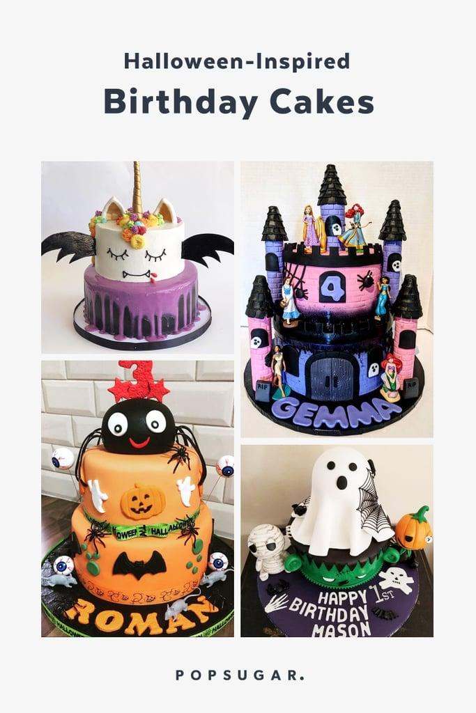 Zombie Witch Eyeball Spider Halloween Birthday Cake Halloween