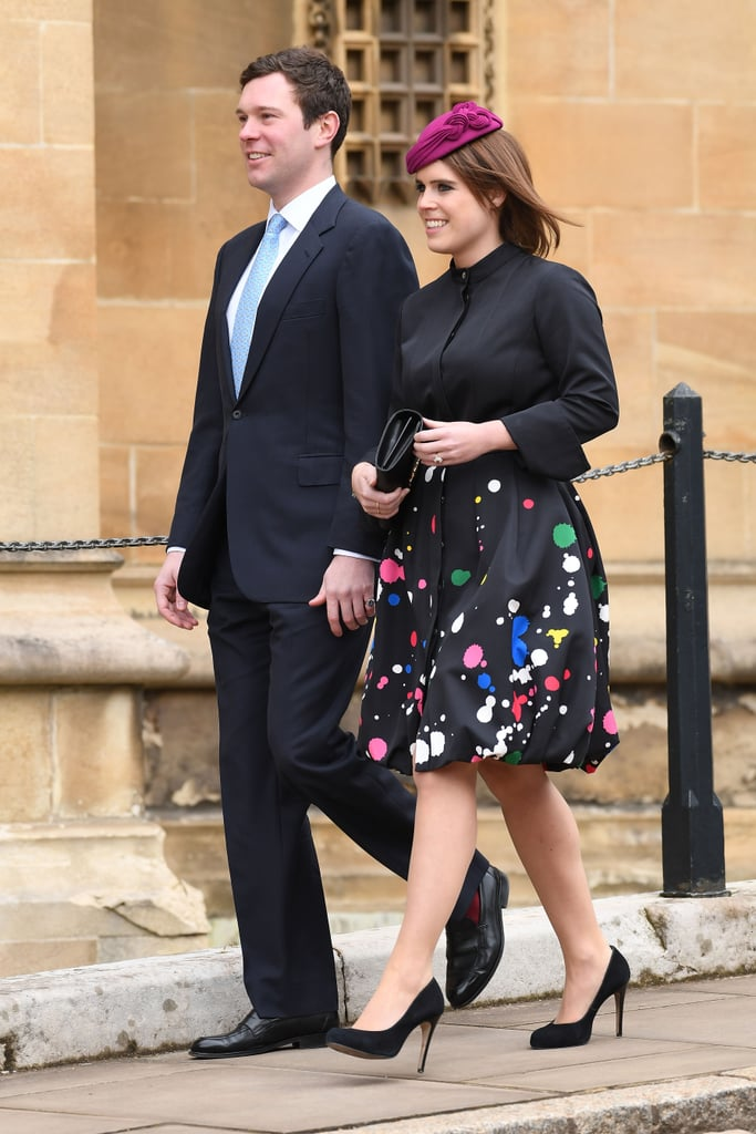 Princess Eugenie's Paint Splatter Coat Easter 2018