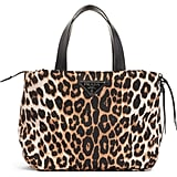 Prada Leopard Print Nylon Top Handle Bag