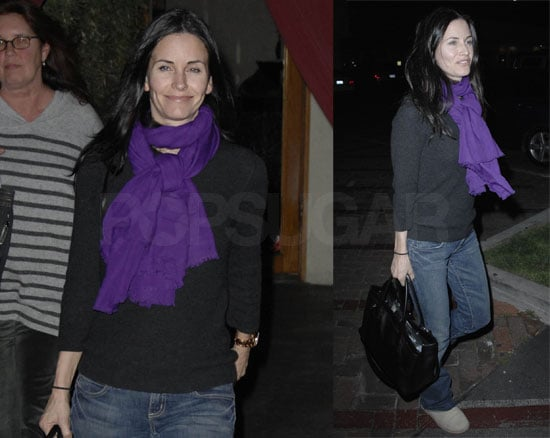 Courteney Cox at Nobu in Malibu