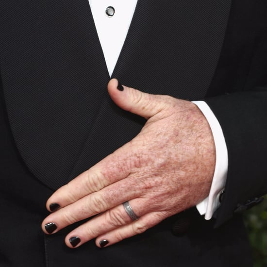 Chris Sullivan's Black Nail Polish at the 2018 Golden Globes