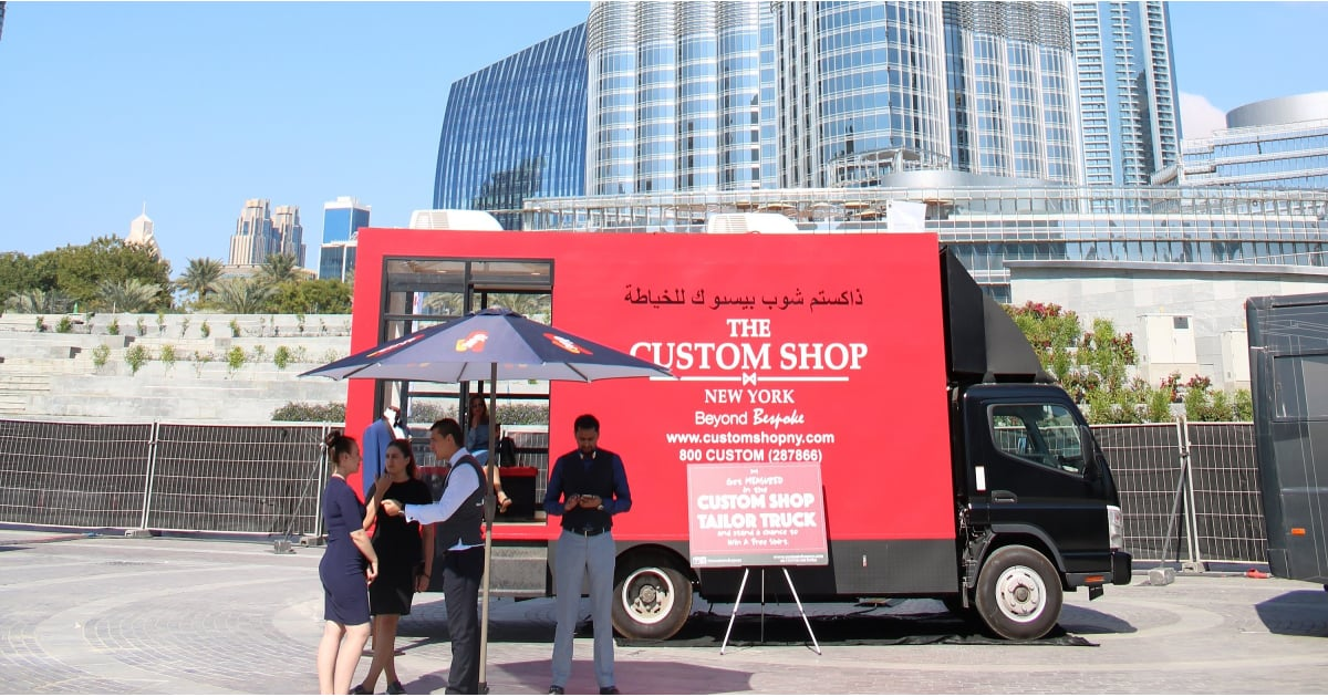 Custom Shop New York Tailor Truck Opens in Dubai | POPSUGAR