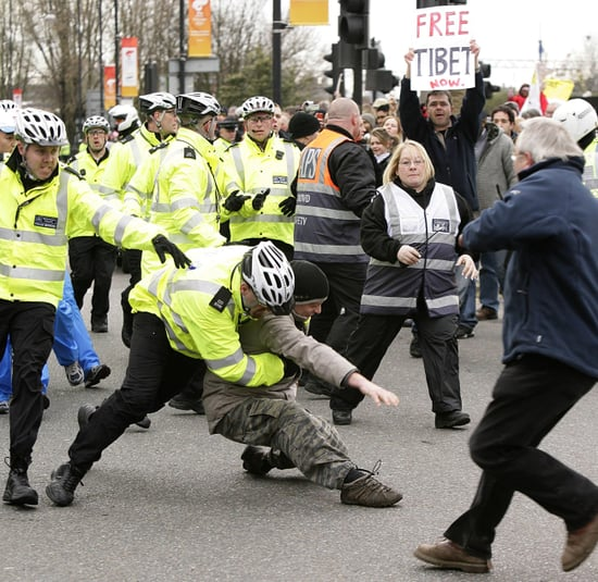 Protesters Disrupt Olympic Torch Ceremony in London