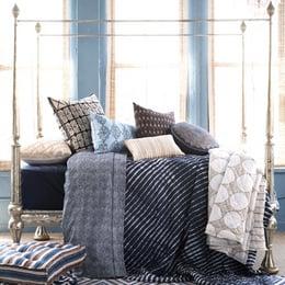 John Robshaw Textiles - Indigo Turban - Bed Collections - Bedding