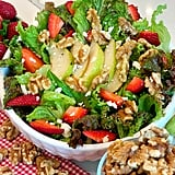 Walnut, Pear, and Strawberry Salad