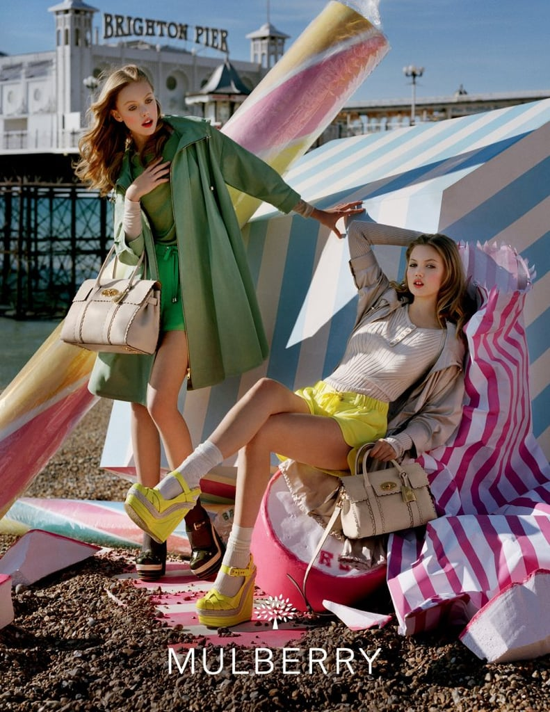 Candy colors and oversized desserts provided a pretty background for Mulberry's Spring '12 campaign. Source: Fashion Gone Rogue