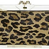Take a walk on the wild side with the Charlotte Olympia Transparent Pandora Clutch ($695) and its hyena-print calf hair.