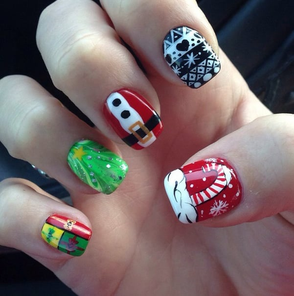 DIY Nail Art Ideas Holiday 2014 | POPSUGAR Beauty