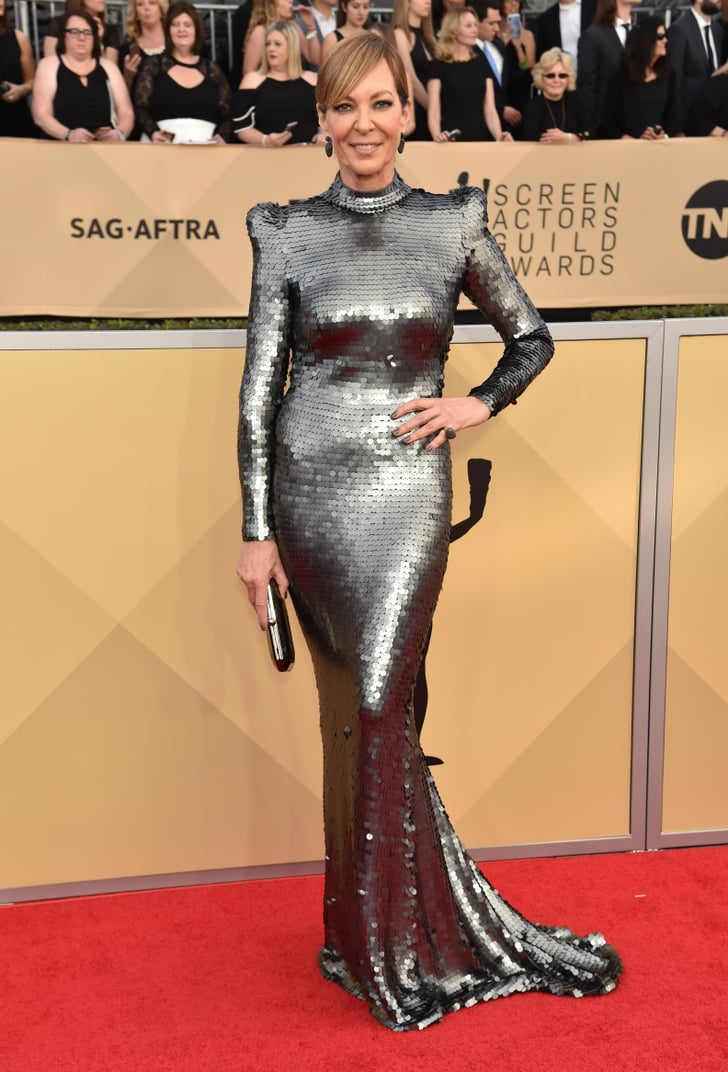 Allison Janney Wore Her Metallic SAG Awards Gown Like a Suit of Armour