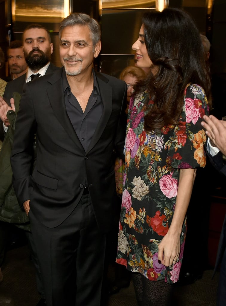 Amal gave her husband a cute stare when they attended an event in London in January 2017.