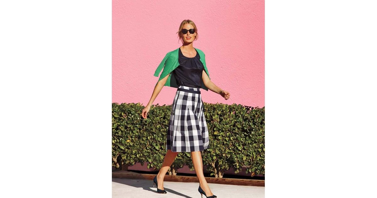 Boden gingham full skirt full skirt trend popsugar for Boden fashion deutschland