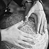 A Heart Hands on a Globe (Instead of a Belly!) Photo