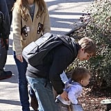 Natalie Portman was in Pasadena with her son, Aleph Millepied.