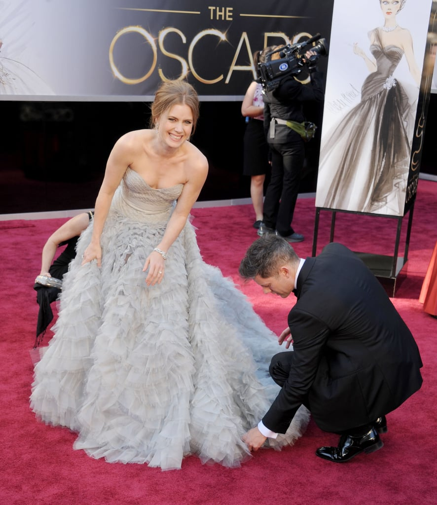 Amy Adams in Oscar de la Renta at the 2013 Oscars
