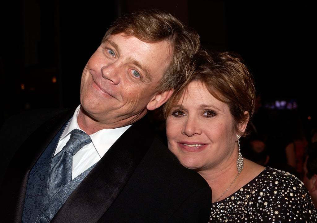 "Mark Hamill has a special message for his late onscreen space twin, Carrie Fisher. On Thursday, the 67-year-old actor gave a sweet shout out to Carrie, who died two years ago of cardiac arrest at the age of 60. ""It makes me so happy to know how overwhelmed & touched she would be by the worldwide outpouring of love & affection for her today,"" he tweeted, including the hashtags #AlwaysWithUs, #CarrieOnForever, and #KeepMovingThingsAreBoundToBeImproving. Mark and Carrie starred together as twins Luke Skywalker and Princess Leia Organa in five Star Wars films.  It makes me so happy to know how overwhelmed & touched she would be by the worldwide outpouring of love & affection for her today... ❤️#AlwaysWithUs #CarrieOnForever #KeepMovingThingsAreBoundToBeImproving pic.twitter.com/JdAMjWwtPl— Mark Hamill (@HamillHimself) December 27, 2018     In 2017, Mark also honoured Carrie at the Disney Legends award ceremony when giving a speech. ""We loved each other, and what a great thrill it was to come back to The Force Awakens at that time in our lives,"" he said. ""There was a comfort level with each other. We could rely on each other, and there was a deep respect."" Mark's recent tribute comes shortly after Carrie's daughter, Billie Lourd, paid her respects to her mother in a touching Instagram post. She shared a video of her playing the piano and singing one of Carrie's favourite songs, ""These Days"" by Jackson Browne. ""I hope this encourages anyone feeling a little low or lost to 'keep on moving,'"" she wrote in the caption. ""As my Momby once said, 'take your broken heart and turn it into art' — whatever that art may be for you.""      Related:                                                                                                           Just in Case You've Forgotten, Here's the Chronological Order of the Star Wars Films"