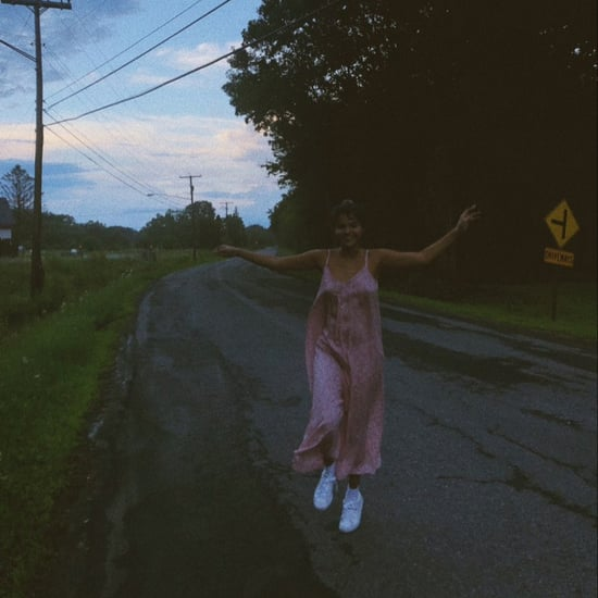 Selena Gomez's Pink Slip Dress