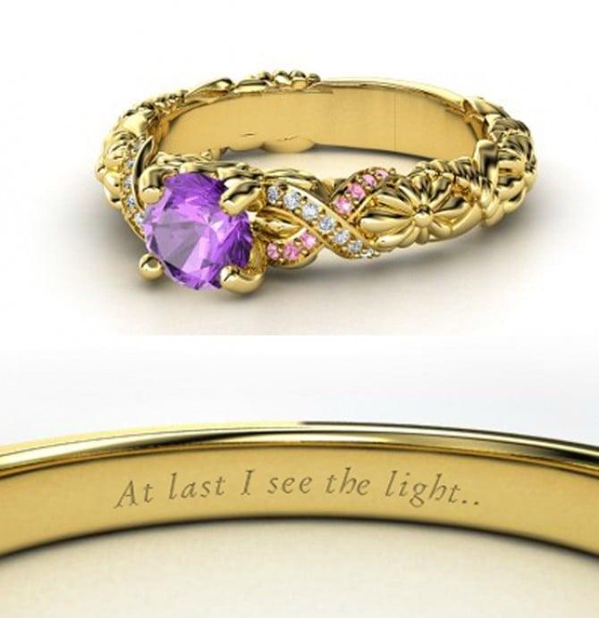 Amethyst Rapunzel Engagement Ring ($1,090)