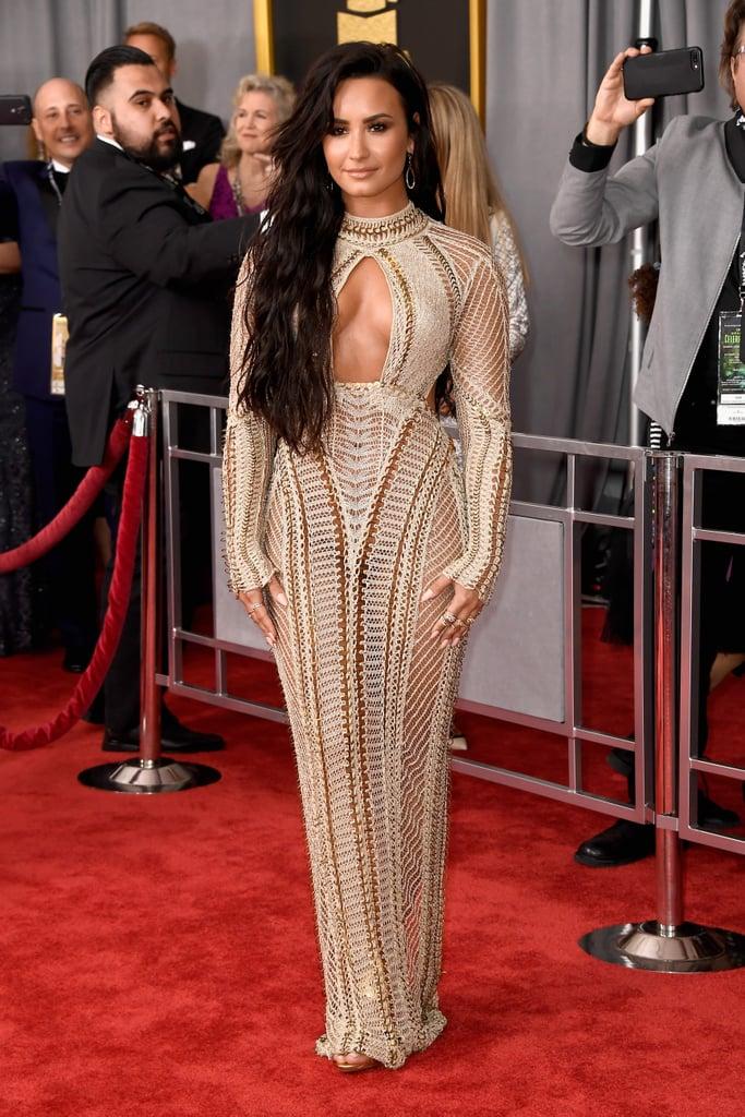 Demi Lovato's Dress at the 2017 Grammys   POPSUGAR Latina