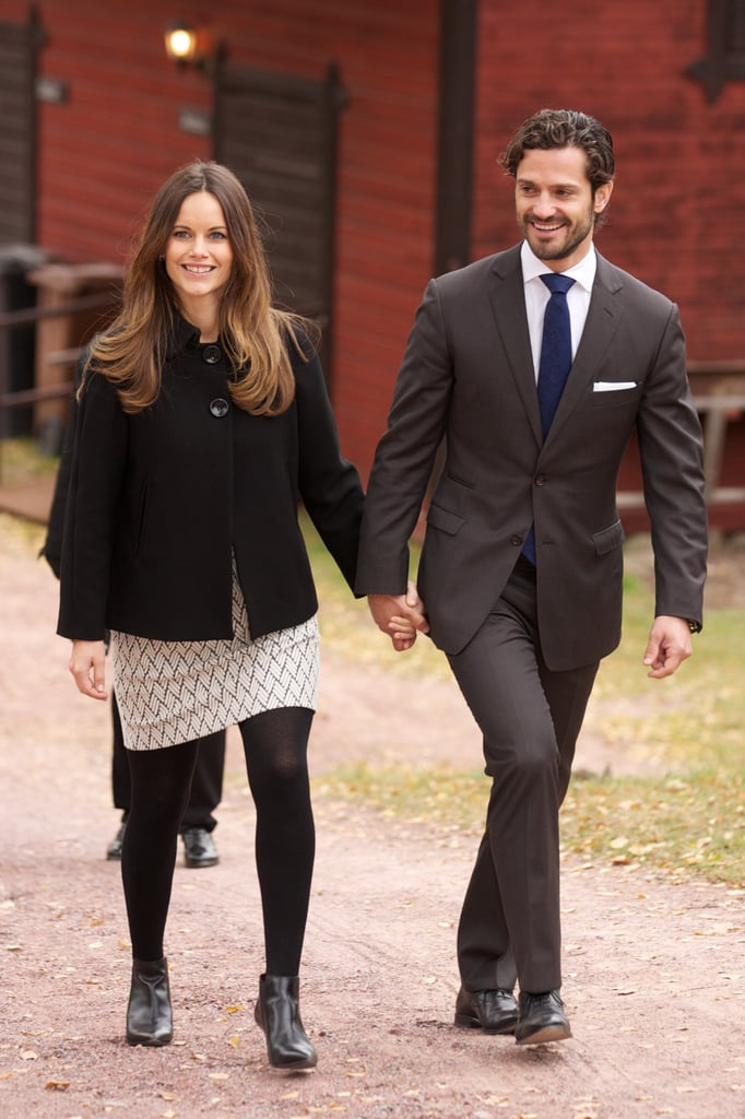 The couple held hands while on an official visit in Älvdalen, Sweden, in October 2015, just days before announcing they were expecting their first child.