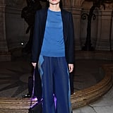 At the Stella McCartney show during Paris Fashion Week in March 2017.