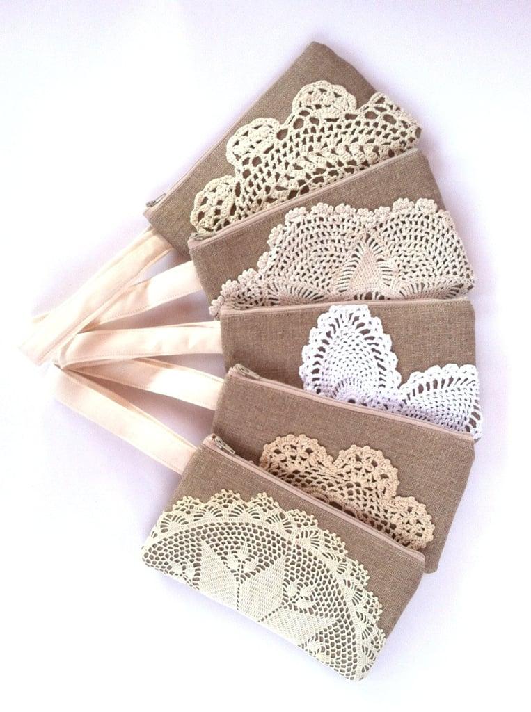 Linen Burlap Wristlets
