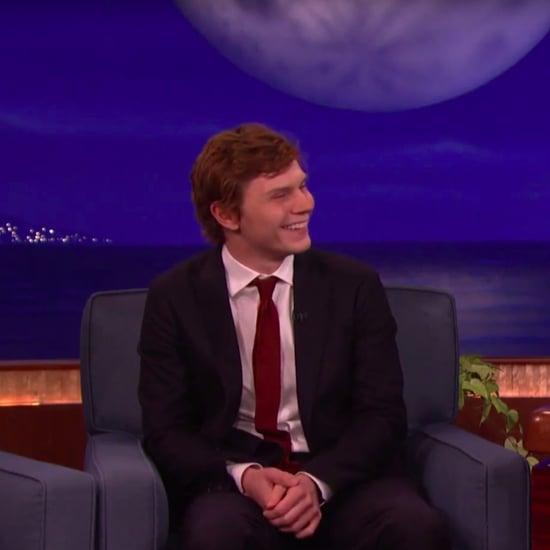 Evan Peters Talks AHS on Conan October 2016