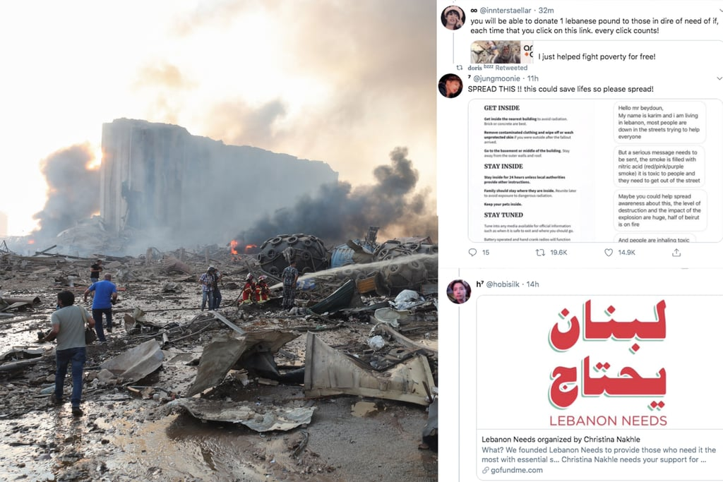 Twitter Accounts to Follow to Help those in Lebanon