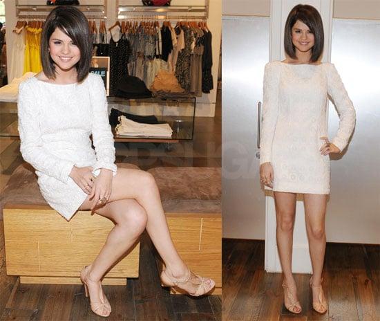 Selena at Armani