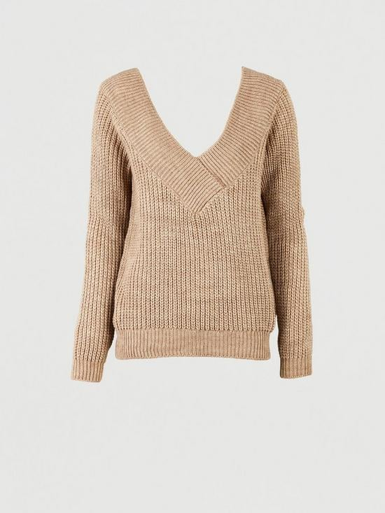 Michelle Keegan Wrap Cable Knitted Jumper