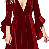 Caitefaso Velvet Party Dress