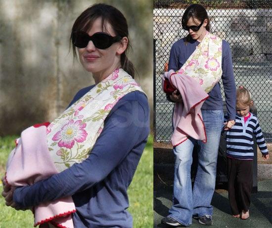 Photos of Ben Affleck on the Set of The Company Men, Jennifer Garner at the Park With Violet Affleck and Seraphina Affleck