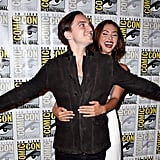 Pictured: Richard Harmon and Lindsey Morgan.