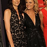 Amy Poehler had a laugh with Kristen Wiig at the Time 100 party in NYC.
