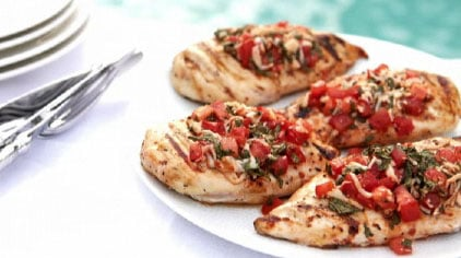 Fast and Easy Recipe For Grilled Bruschetta Chicken