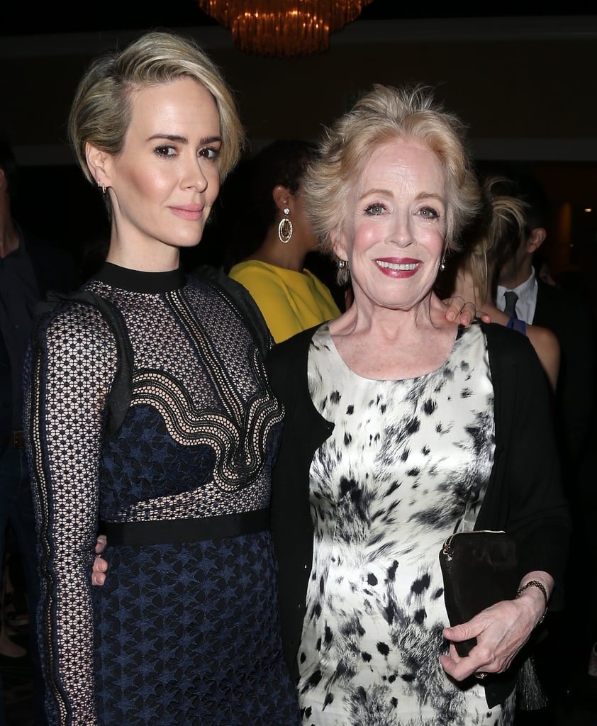 "It was date night for Sarah Paulson and Holland Taylor at the Television Critics Association Awards in Beverly Hills on Saturday evening. Sarah had the loving support of her girlfriend as she took the stage to accept her trophy for individual achievement in drama for her role in Ryan Murphy's series American Crime Story: The People V. O.J. Simpson. The two smiled and posed for pictures backstage, and later that night, Holland took to Twitter to congratulate Sarah on her win, writing, ""'Individual Achievement in Drama' #TCAAwards Such a joy to see her win! Superb performance! The People vs. OJ,"" along with a cute picture of Sarah and her award.   Ever since reports surfaced that Sarah and Holland were dating back in December, Sarah has gone on record saying that she's ""in love,"" and the two are often seen holding hands during their sweet date nights. See why they might just be Hollywood's most adorable duo."